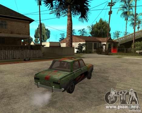 Bloodring Moskvich 412 para GTA San Andreas vista posterior izquierda