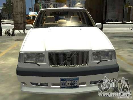 Volvo 850 R 1996 Rims 2 para GTA 4 vista hacia atrás