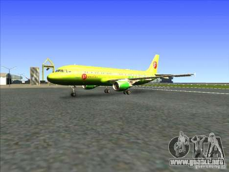 Airbus A-320 S7Airlines para GTA San Andreas left
