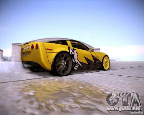 Chevrolet Corvette C6 super promotion para la visión correcta GTA San Andreas