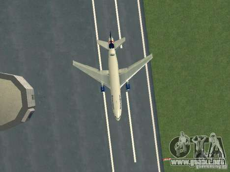 McDonell Douglas DC10 British Airways para visión interna GTA San Andreas