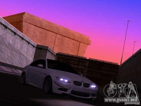 BMW M3 E92 Drift para GTA San Andreas vista posterior izquierda