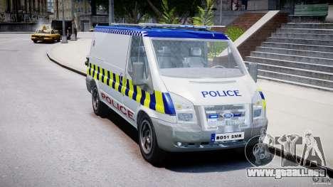 Ford Transit Polish Police [ELS] para GTA 4 visión correcta
