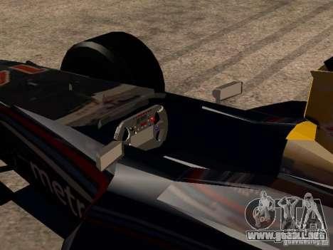 F1 Red Bull Sport para visión interna GTA San Andreas