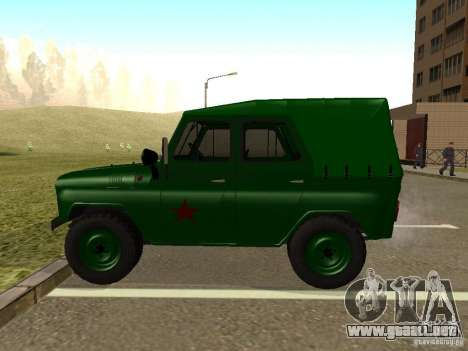 UAZ 469 militar para GTA San Andreas left