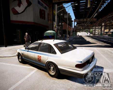 Russian Police Cruiser para GTA 4 left
