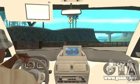 BMW X3 2.5i 2003 para GTA San Andreas vista hacia atrás