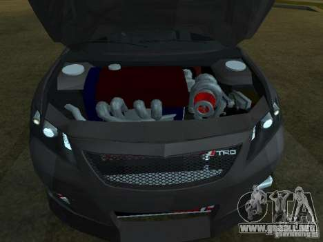 Toyota Camry para la visión correcta GTA San Andreas