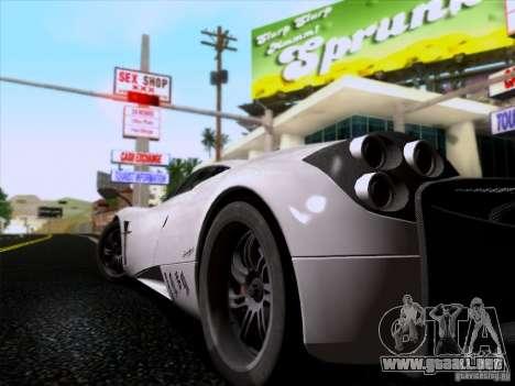 Pagani Huayra 2011 para GTA San Andreas vista hacia atrás