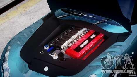 TVR Sagaris para GTA 4 vista interior