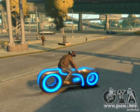Motocicleta del trono (azul neón) para GTA 4 left