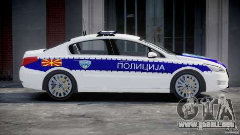 Peugeot 508 Macedonian Police [ELS] para GTA 4 left