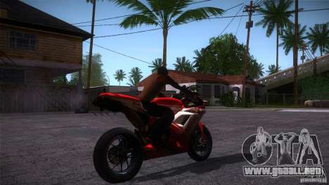 Ducati 1098 para la visión correcta GTA San Andreas