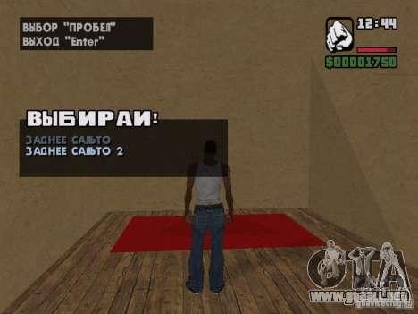 Training and Charging 2 para GTA San Andreas quinta pantalla