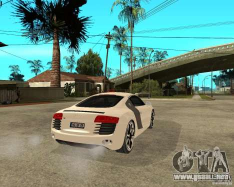 Audi R8 light tunable para GTA San Andreas vista posterior izquierda