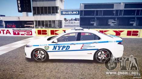 Honda Accord Type R NYPD (City Patro 1950l) ELS para GTA 4 left