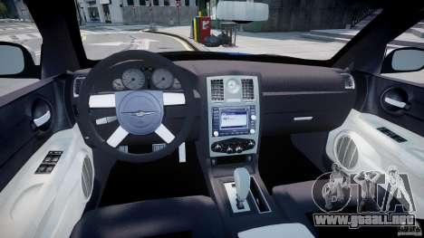 Chrysler 300C SRT8 Tuning para GTA 4 visión correcta