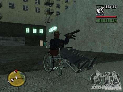 Silla de ruedas manual para la visión correcta GTA San Andreas