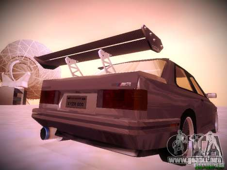 BMW M3 Drift para GTA San Andreas vista hacia atrás