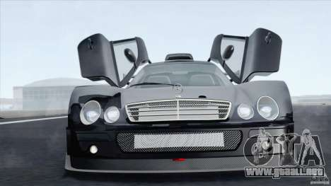 Mercedes-Benz CLK GTR Race Car para GTA San Andreas vista posterior izquierda