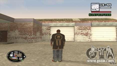 Sam B from Dead Island para GTA San Andreas sucesivamente de pantalla