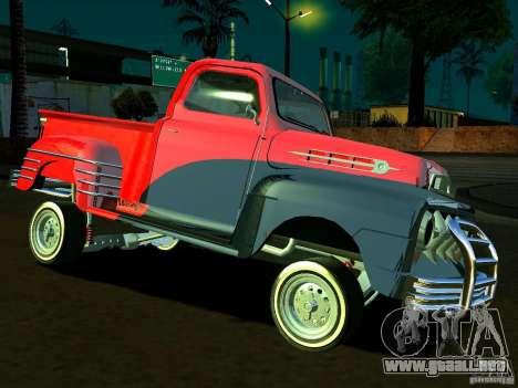 Ford Pick Up Custom 1951 LowRider para vista lateral GTA San Andreas