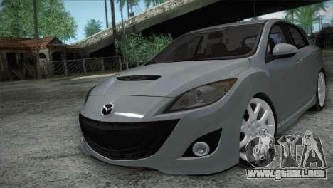 Mazda Mazdaspeed3 2010 para visión interna GTA San Andreas
