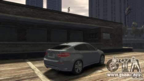 BMW X6M para GTA 4 Vista posterior izquierda