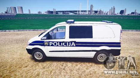 Mercedes Benz Viano Croatian police [ELS] para GTA 4 left
