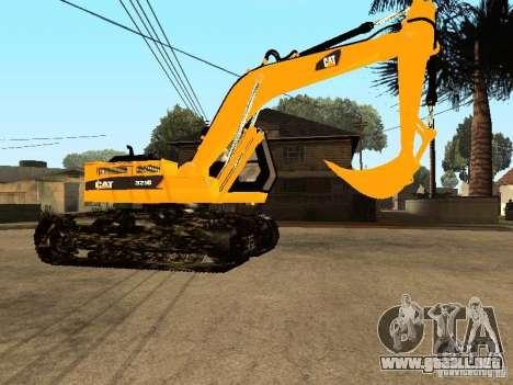 Excavadora CAT para GTA San Andreas vista hacia atrás