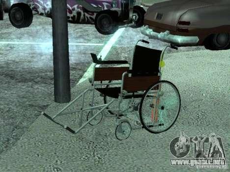 Silla de ruedas manual para GTA San Andreas