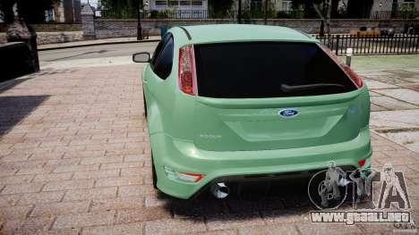 Ford Focus RS para GTA 4 Vista posterior izquierda