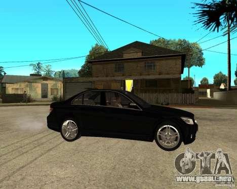 Mercedes Benz C350 W204 Avantgarde para la visión correcta GTA San Andreas