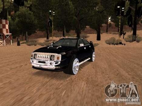 Hummer H0 para GTA San Andreas vista hacia atrás
