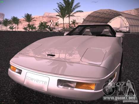 Chevrolet Corvette Grand Sport para GTA San Andreas vista posterior izquierda