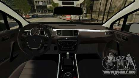 Peugeot 508 Presidentielle ELS para GTA 4 visión correcta