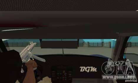 Porsche 911 Le GRID para GTA San Andreas vista hacia atrás
