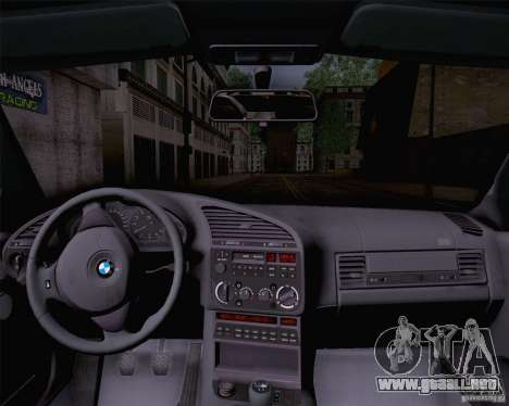 BMW M3 E36 1995 para GTA San Andreas vista posterior izquierda