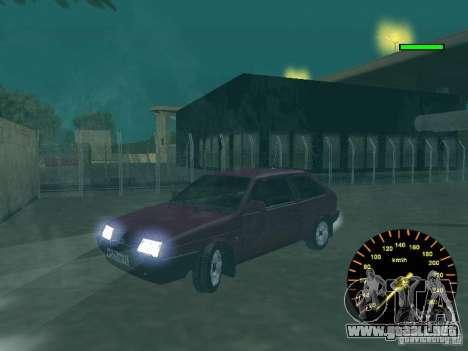 VAZ 2108 clásico para GTA San Andreas vista hacia atrás