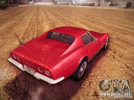 Chevrolet Corvette Stingray 1968 para GTA San Andreas left