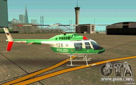 Bell 206 B Police texture3 para GTA San Andreas vista posterior izquierda