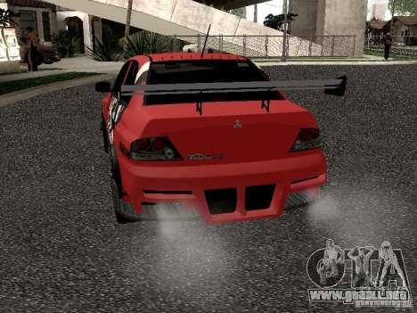 Mitsubishi Lancer Evo 8 para la visión correcta GTA San Andreas