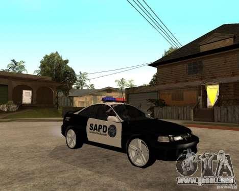 Honda Integra 1996 SA POLICE para GTA San Andreas vista hacia atrás