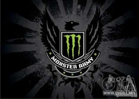 Pantalla de arranque de Monster Energy para GTA San Andreas sexta pantalla