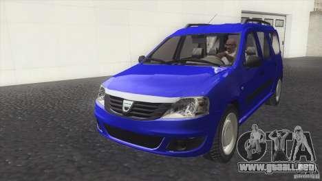 Dacia Logan MCV Facelift para la visión correcta GTA San Andreas