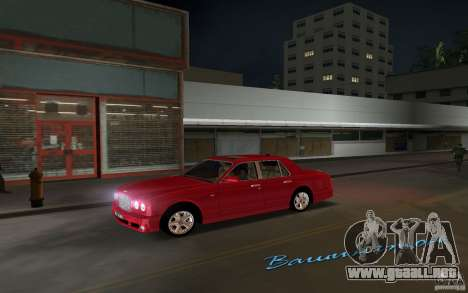 Bentley Arnage T 2005 para GTA Vice City