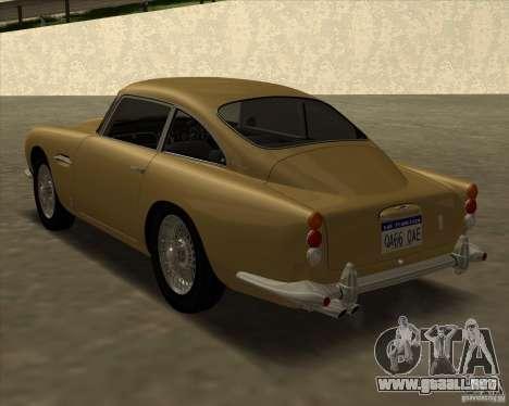 Aston Martin DB5 Vantage 1965 para GTA San Andreas left