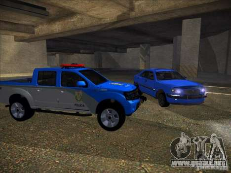 Nissan Frontier PMERJ para GTA San Andreas left