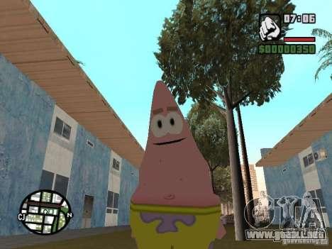 Patrick para GTA San Andreas quinta pantalla