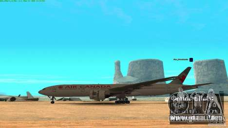 Boeing 777-200 Air Canada para GTA San Andreas left
